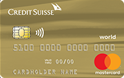 Carta Credit Suisse World Mastercard Gold
