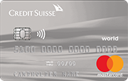Carte Credit Suisse World Mastercard Standard