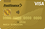 Carta PostFinance Visa Gold Card