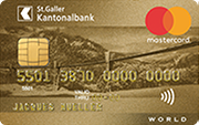 Carta World Mastercard Gold SGKB