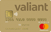 Carta World Mastercard Gold Valiant