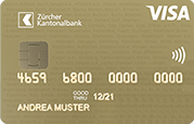 Carta Visa Gold ZKB