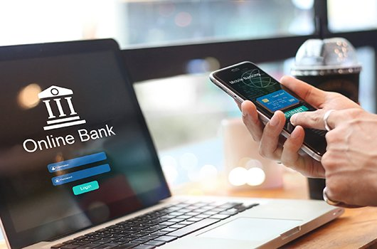 Online bank and mobile bank